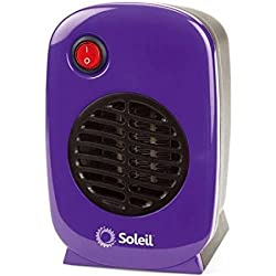 Soleil Personal, Portable Electric Ceramic Heater, 250 Watts (Purple)
