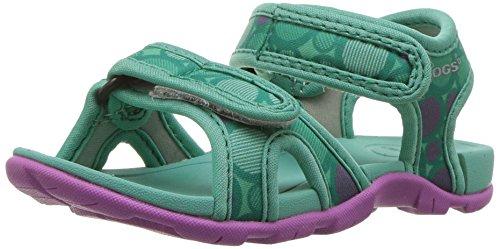 (Bogs Whitefish Kids Athletic Sport Water Sandal for Boys and Girls, Multidot Print/Turquoise/Multi, 9 M US Toddler)