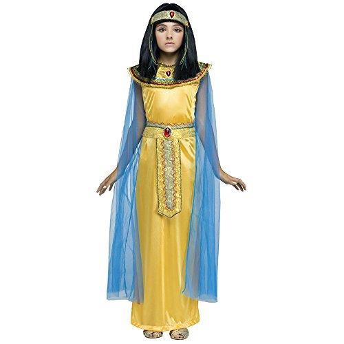 Nefertiti Costume Fancy Dress (Golden Cleo Child Costume - Medium)