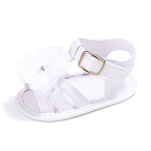 Baby Girls' Summer Shoes Infant Sandals First walkers White 7 - 12 months