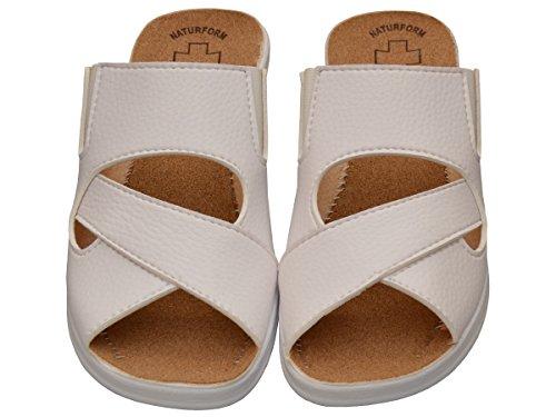 Modelo Sandalias Trabajo Blanco Corcho Comodidad Zapatillas 050 Chanclas Mujer ZwHqYY