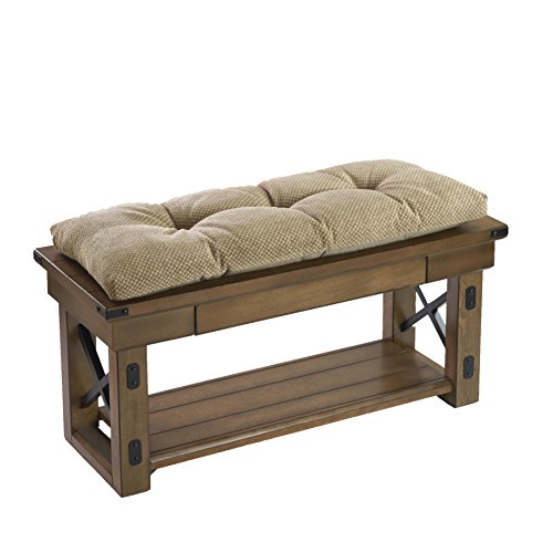 The Gripper Non-Slip Rembrandt Tufted Universal Bench Cushion, Tan