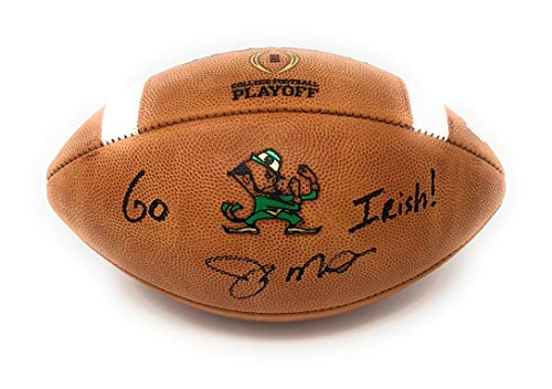 Joe Montana Notre Dame Fighting Irish Signed Autograph Authentic Playoff Inscribed Football Montana GTSM Player Hologram ()