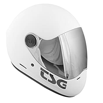 TSG Helmet casco integral for longboard and downhill. WHITE -M-: Amazon.es: Deportes y aire libre