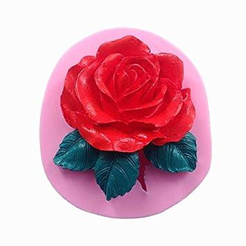 Molde de silicona para repostería, diseño de flores en 3D, 1 unidad: Amazon.es: Hogar