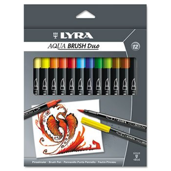 LYRA Dual Tip Marker, 12 Pack, Assorted - Tip Dual Lyra Marker