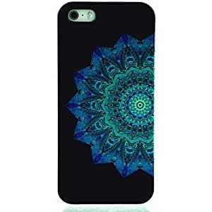 LCJ Blue Mandala Pattern Hard Case for iPhone 5/5S