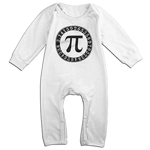Costume Drama Youtube (Infant Baby's Pi Math Art Number Long Sleeve Romper Climb Clothes 24 Months White)