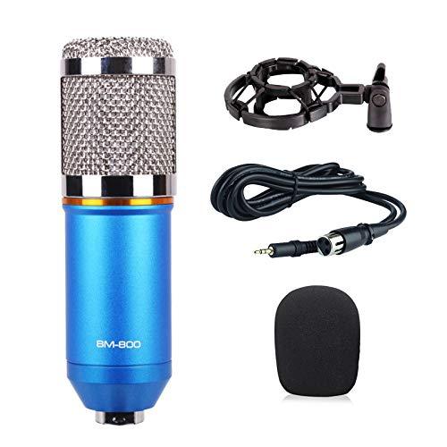 Baoer BM800 Home Microphone KTV Computer Sound Recording Condenser Microphone Blue