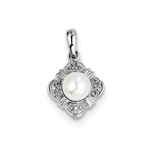 ICE CARATS 925 Sterling Silver Freshwater Cultured Pearl Diamond Pendant Charm Necklace Fine Jewelry Ideal Gifts For Women Gift Set From Heart