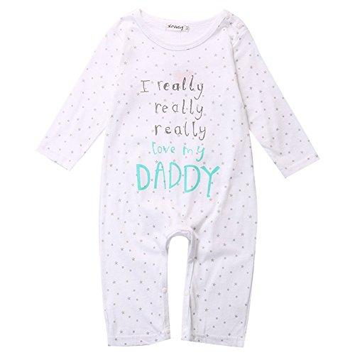 MIOIM Baby Boy Girl Newborn Love Mummy Daddy Romper Bodysuit Jumpsuit Outfit (Girls Halloween Shirts)
