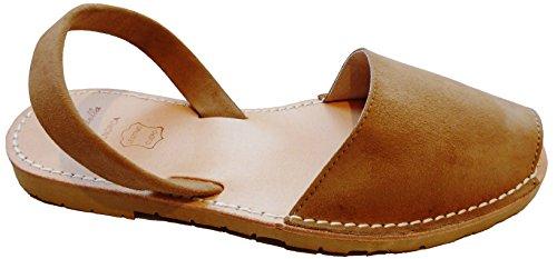 Authentische Menorcan Sandalen, avarcas menorquinas, SEELE BEIGE SUELA, verschiedene Farben abarcas Camel ante, suela beige