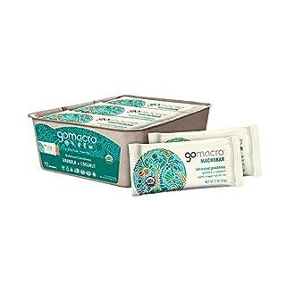 GoMacro MacroBar Organic Vegan Snack Bars - Granola + Coconut (2.0 Ounce Bars, 12 Count)