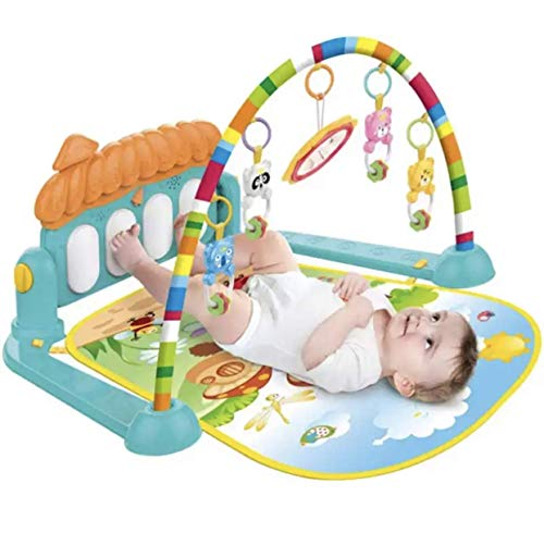 Toyify Baby Play Mat Activity Gym with Kick Piano Keyboard, Baby Mat Designed with Colorful and Detachable Baby Toys in Activity Center for Tummy Time Boys and Girls Aged 0 to 12 Months [ Washable ] – ₹998.00