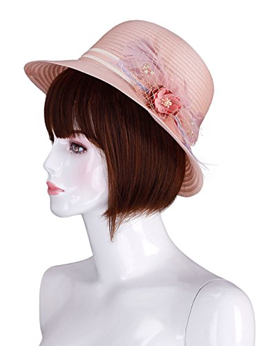 ADAMARIS Womens Elegant Party Beach Hats with Flowers (Beach Party Hats)
