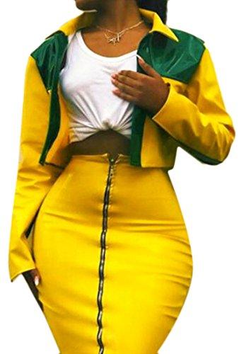 Zip Jacket & Pleated Skirt - 3