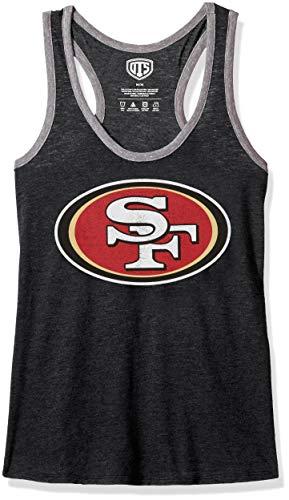 - NFL San Francisco 49Ers Female OTS Triblend Tank Distressed, Jet Black, Small