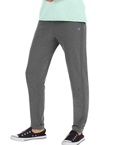 - Champion Women's Heathered Jersey Jogger Pant, Granite Heather, M