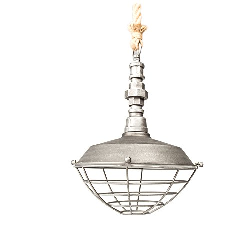 Industrial Vintage Metal Cage Pendant Lighting Edison Loft Pendant Light , 1-Light Pendant light , Silver colour, Industrial/Country Style Pendant Lamp Review