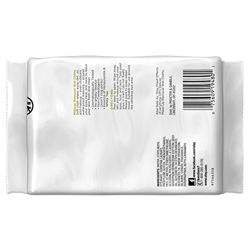 41cmItdS%2BjL Olay Makeup Remover Wet Cloths, Honeysuckle and White Tea, 25 Count