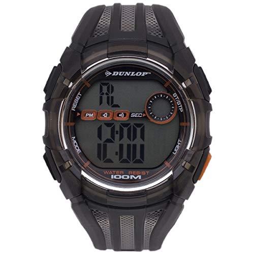 Dunlop Digital Watch Mens DUN186G03 Ruthenium Plastic Quartz Light
