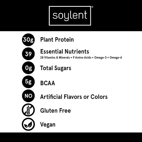 Soylent Complete Protein Gluten-Free Vegan Protein Meal Replacement Shake, Chocolate, 11 Oz, 12 Pack 2