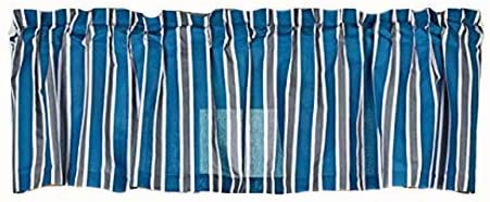 Blue Striped Sports Patch Valance 16 x 84