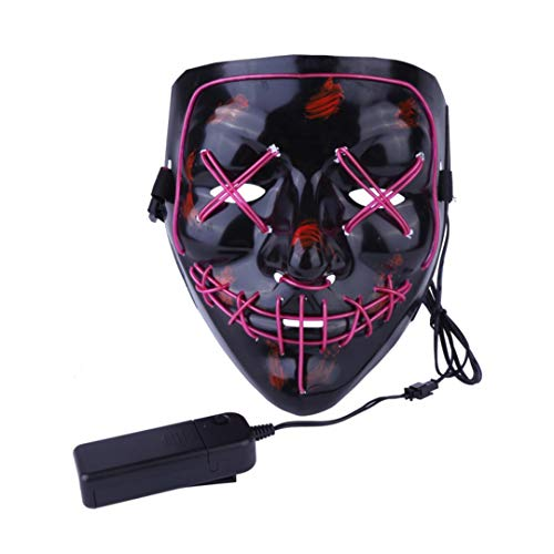 Halloween Mask LED Light Up Party Masks The Purge Election Year Great Funny Masks Festival Cosplay Costume Z