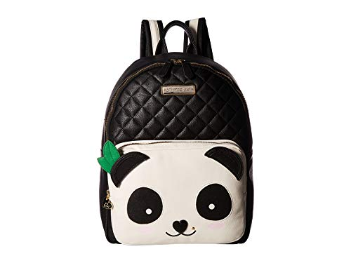 Betsey Johnson Women's Cat Backpack Black/Cream One Size from Betsey Johnson