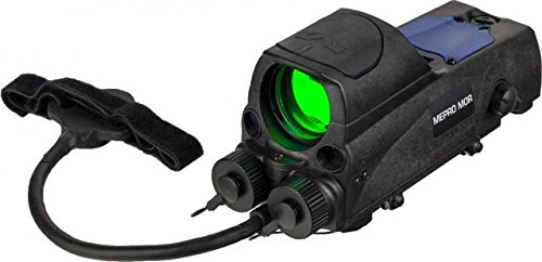 Mako Mepro Mor B Bullseye Reticle Multi Purpose Reflex Sight with Red Laser Pointer and Quick Release Flat Top Adapter, Black