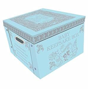Amazon Com Blue My Baby Keepsake Box A Lifetime Of