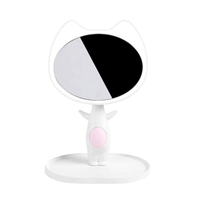 Espejo de baño Espejo De Maquillaje LED Lámpara De Mesa Escritorio ...