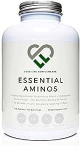 LLS aminoácidos esenciales (EAA)   300 pastillas / 60 porciones   5-10g por porción   8 aminoácidos esenciales absorbibles   Producido en el Reino ...