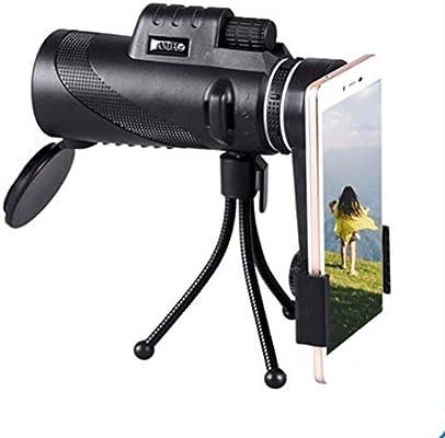 VISTANIA Telescopio Monocular-40X60 De Alta Potencia Prisma Alcance con Rápido Smartphone Adaptador De Montaje Y Trípode-para La Caza De Deportes Al Aire Libre Vida Silvestre Viajes: Amazon.es: Deportes y aire libre