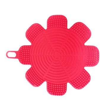 Kitchen Tools & Gadgets - Kc-Sc47 Flower Shape Silicone Dish Bowl Vegetable Fruit Cleaning Brush Heat-Resistant Coaster - Flush Copse Efflorescence Sweep Heyday Encounter Light Touch - 1PCs (Vegetable Bowl Peony)