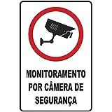 Placa em Poliestireno 20X30 Cm - Monitoramento por Cameras, SINALIZE, 250BN, Branca