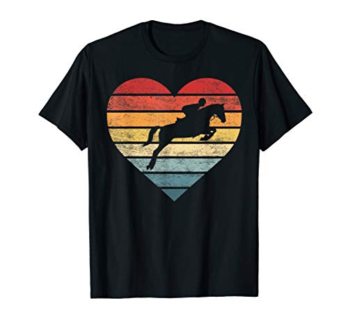 Retro Sunset Horse Lover Rider Equestrian Horseman Gifts T-Shirt