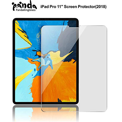 PandaKingGlass iPad Pro 11 inch Screen Protector for Apple iPad Pro 11,3X Stronger Gorilla Glass Anti-Scratch HD Clear Tempered Glass Screen Protector for The All-Screen Apple iPad Pro 11 inch 1 Pack