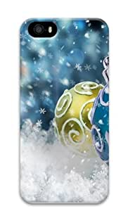 christmas tree bauble Custom iPhone 5s/5 Case Cover Polycarbonate 3D New Year gift