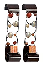Deco 79 Metal Candle Sconce, Set of 2