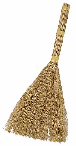 "Package of 2- Straw Bristled 24"" Long Craft Broom- For Weddings, Crafts, and Displays"