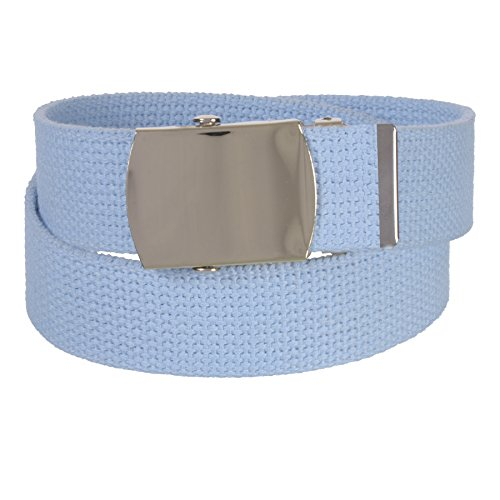 Sunny Belt Womens 1 ¼ Inch Wide Cut To Fit Canvas Web Belt Gold - Jeweled D-ring