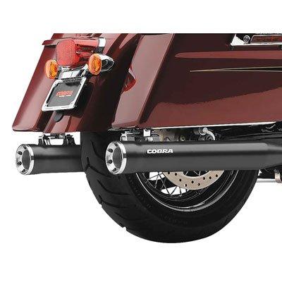 (Cobra 06-16 Harley FLHX2 Slip-On Exhaust with Race-Pro Tips (Raven Black / 3