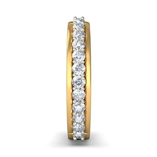 Or jaune 18K 0,36CT TW White-diamond (IJ | SI) Boucles d'oreilles créoles