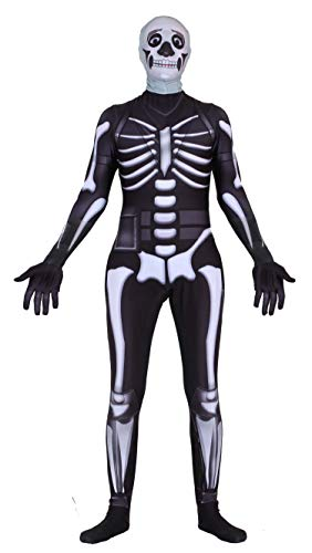 Riekinc Skull Trooper Zentai Halloween Cosplay Costume Kids Size -