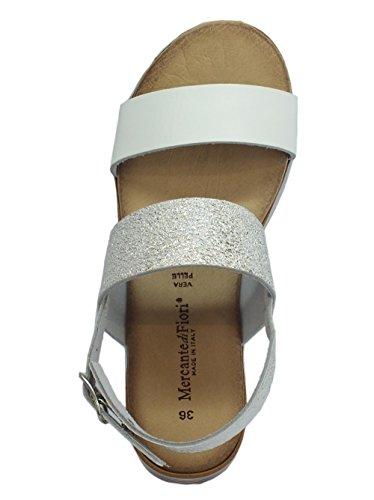 Sandales Femme Fiori di Bianco pour Mercante IqEPwx