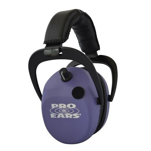 Pro Ears - Stalker Gold - Electronic Hearing Protection and Amplification Earmuffs - NRR 25 - Purple by Pro Ears
