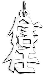 "Sterling Silver Japanese/Chinese ""Trust"" Kanji Symbol Charm"