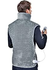 """Large Heating Pad for Back, Shoulders and Neck, 24""""x39""""Electric Heating Wrap with 3 Temperature Settings, 1.5H Auto Shut Off, Machine Washable (Gray)"""