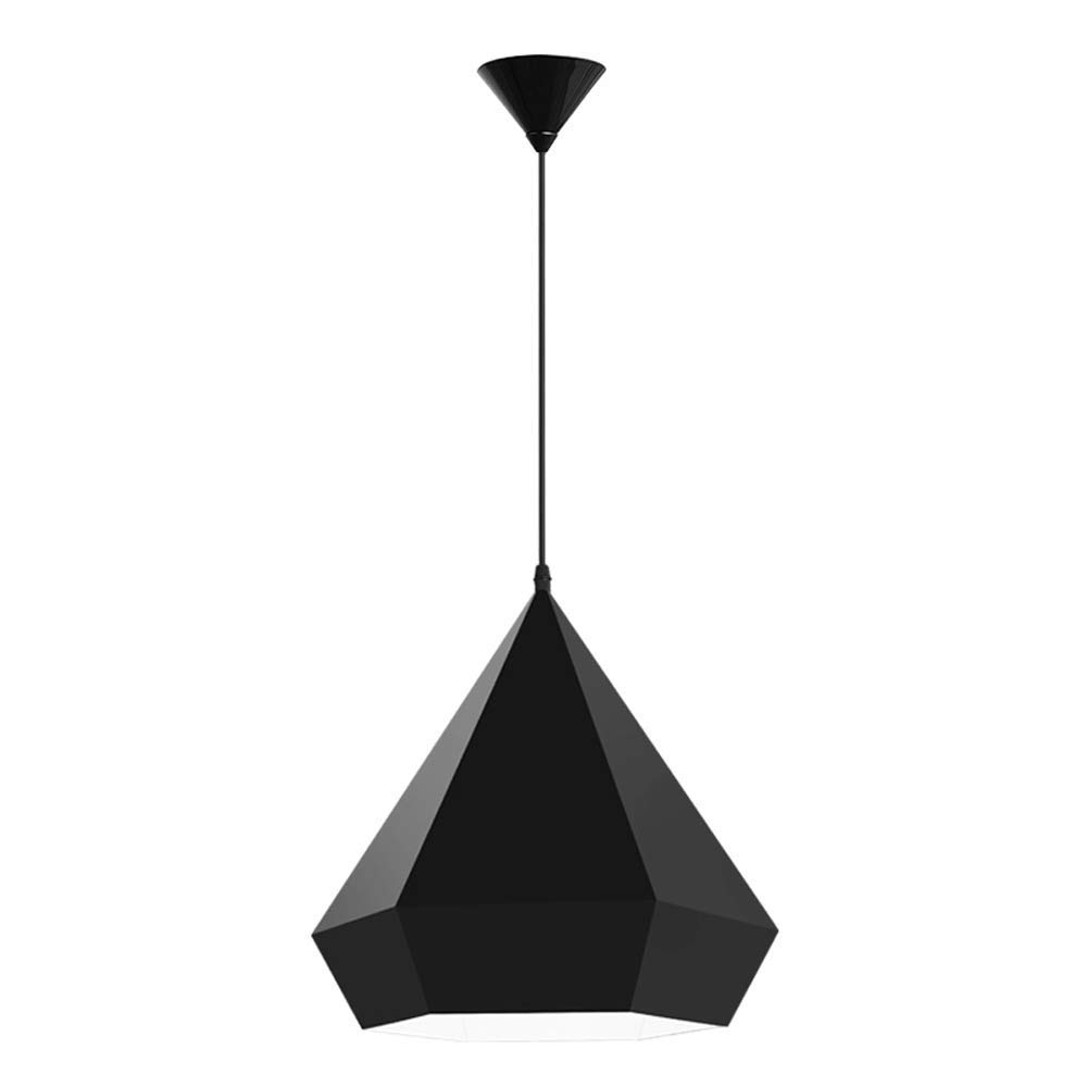 Wapipey Schmiedeeisen Metall Geometrische Schwarz Einzigen Kopf Kronleuchter Nordic Moderne Minimalistische Kreative Diamant Pendelleuchte Wohnzimmer Esszimmer Schlafzimmer Bekleidungsgeschäft Dekorat